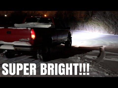 "42"" CURVED LED LIGHT BAR INSTALL ON 1998 Chevy Silverado 2500!!!"