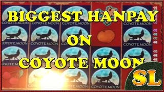 Coyote Moon Biggest Jacktop Handpay Win on Youtube 10 cents machine $20 spin ** SLOT LOVER **
