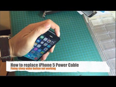 วิธีเปลี่ยนสายเคเบิลเปิด/ปิด iPhone 5 (Replace iPhone 5 Power Cable)