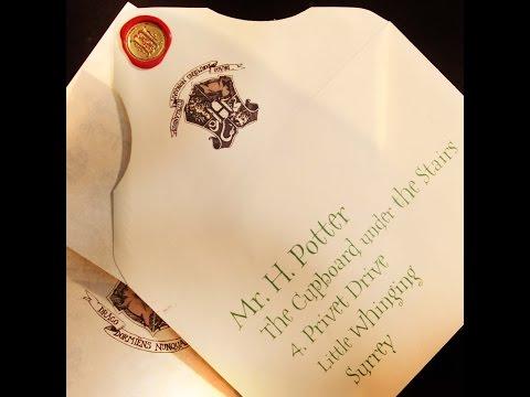 DIY Harry Potter Acceptance Letter KINDA