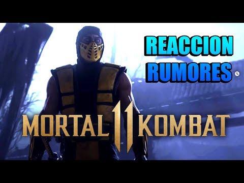 MORTAL KOMBAT 11 - REACCIÓN Y RUMORES