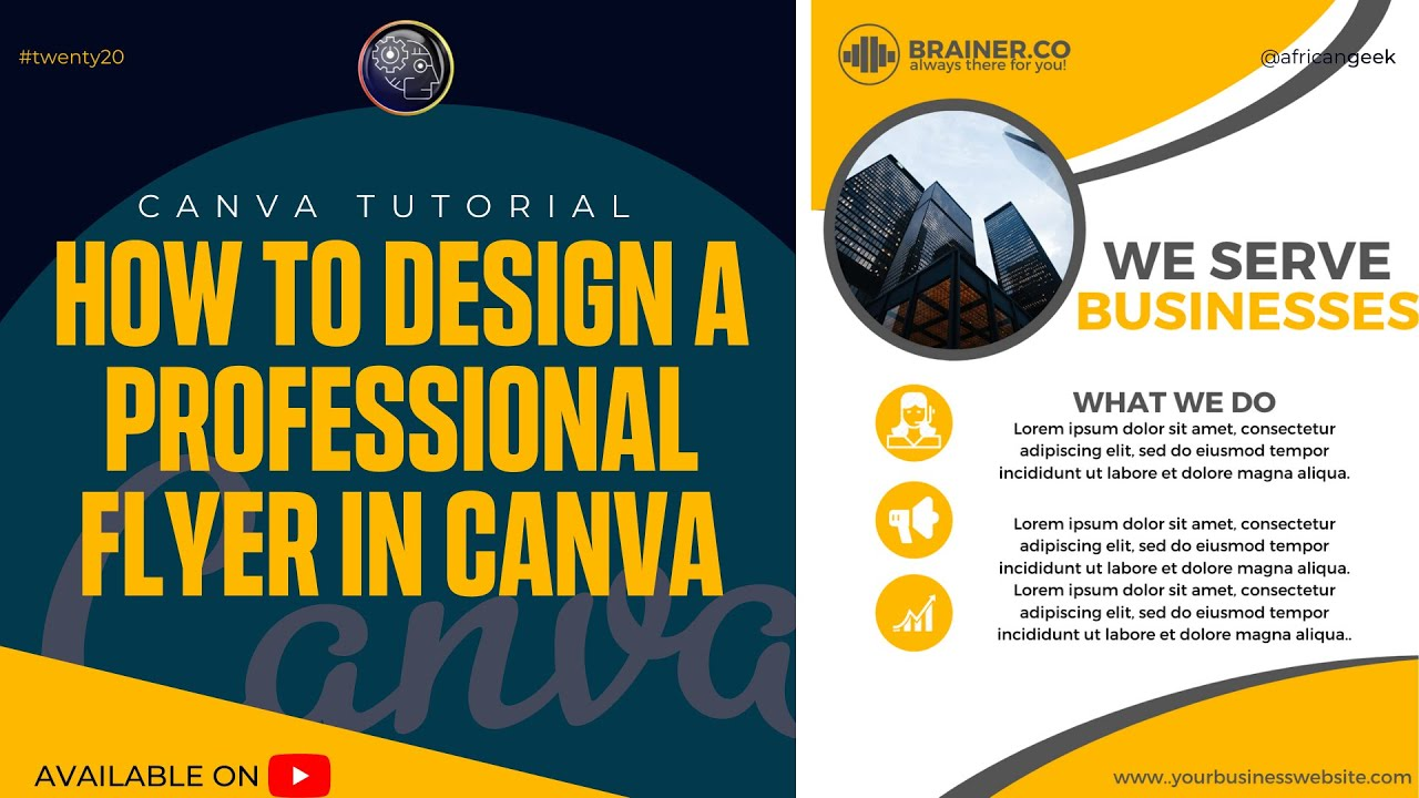 Canva tutorial for beginners - How to design an office flyer in Canva