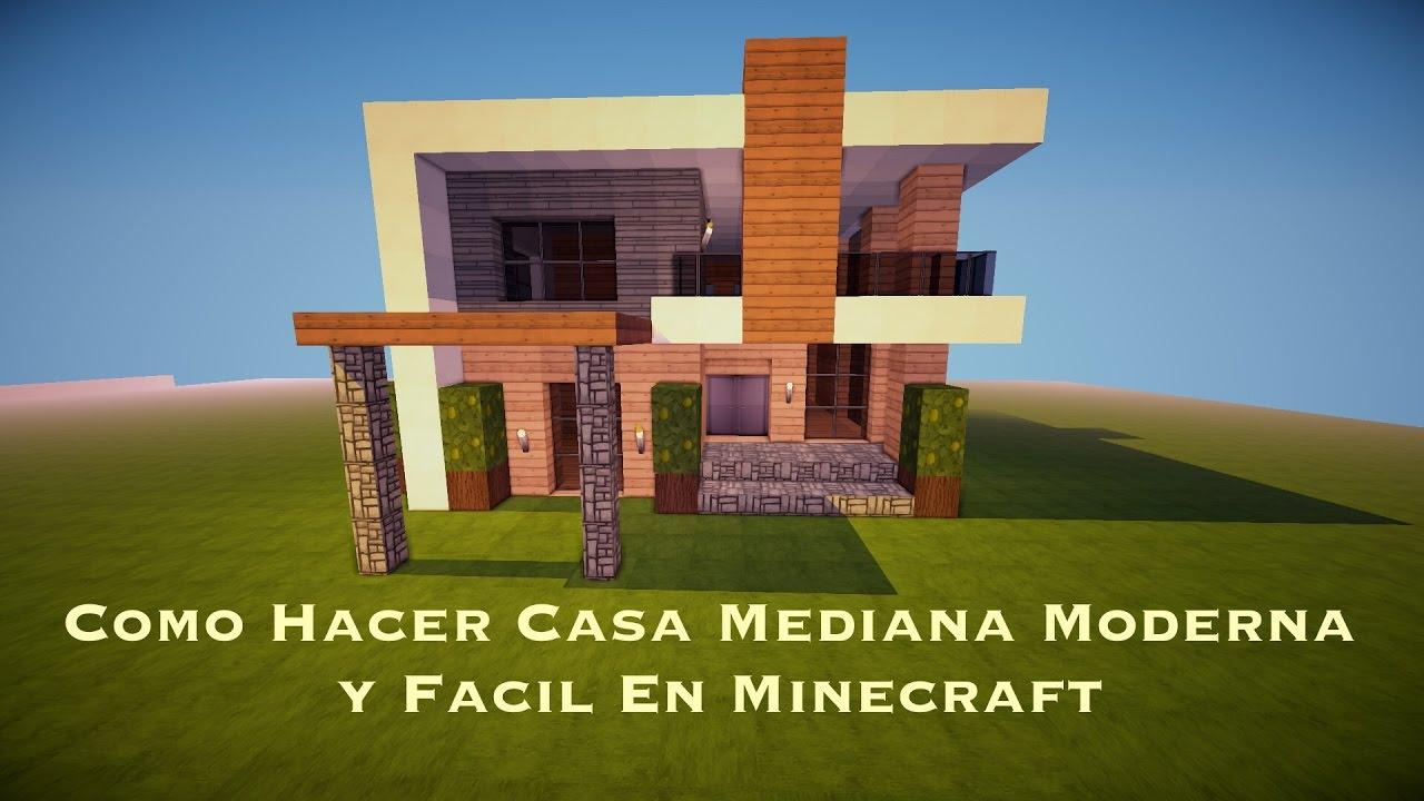 Como hacer casa mediana moderna y facil en minecraft pt2 for Casa moderna minecraft easy