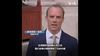"""英国外交大臣:""""港版国安法""""严重违背中英联合声明"""