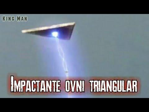 El video del Ovni triangular que abduce algo de la cima de una montaña