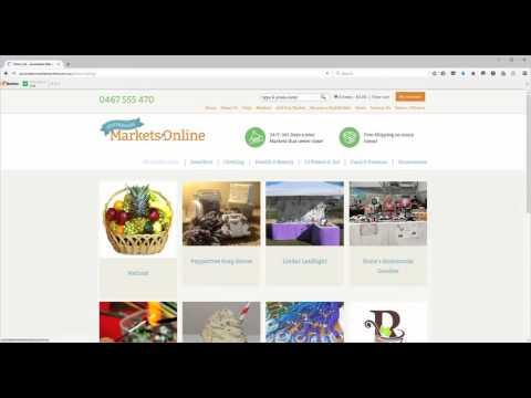 Australian Markets Online - setting up your online shop
