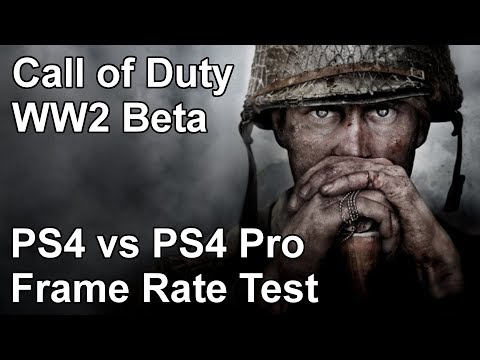 Call of Duty World War 2 PS4 vs PS4 Pro Frame Rate Test (Beta)
