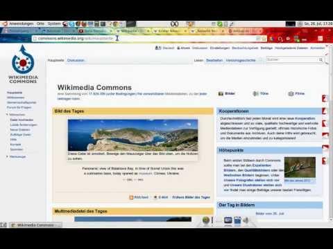 Bilder in die Wikipedia einfügen