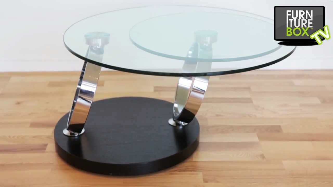 RINGBORD Soffbord Svart/Glas Furniturebox