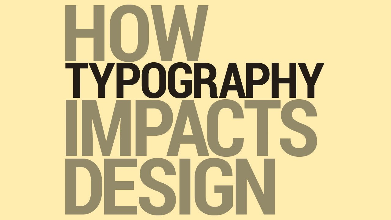 Graphic Design Tutorial Typography And