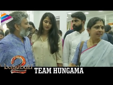 Baahubali 2 Team Hungama at Krishna Gari Battala Shop Opening Ceremony | SS Rajamouli | Anushka