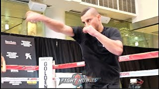 DAVID LEMIEUX SHADOW BOXING W/ POWER LOOKING FOR A CANELO FIGHT