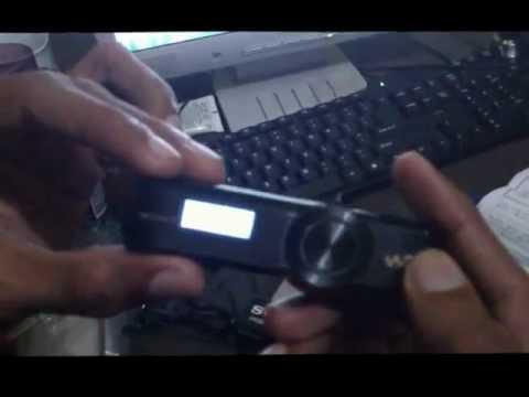 Sony Walkman NWZ-B172F Quick Unboxing
