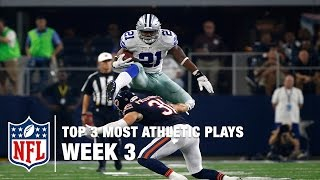 Top 3 Most Athletic Plays (Week 3) | NFL Now