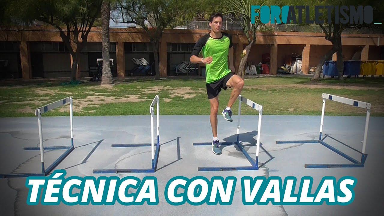 T cnica de carrera con vallas youtube - Vallas de separacion ...