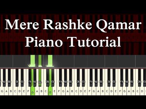 Mere Rashke Qamar Complete Piano Tutorial By M Waqas