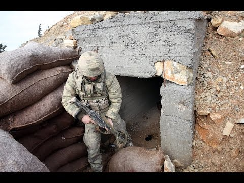 News. Bunker of terrorists from Afrin (Syria)