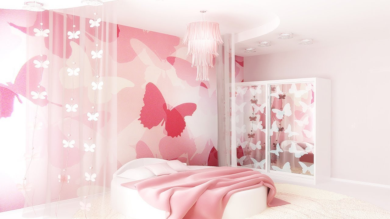 Best 3d Pink Wallpaper For Bedroom Walls Girls Youtube