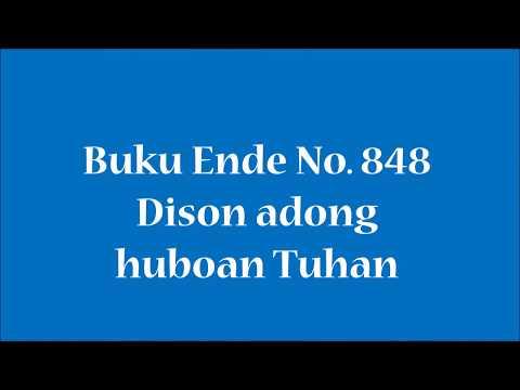 Buku Ende No 848 Dison adong huboan Tuhan
