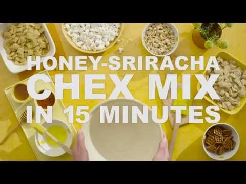 How to   Honey-Sriracha Chex Mix in 15 minutes