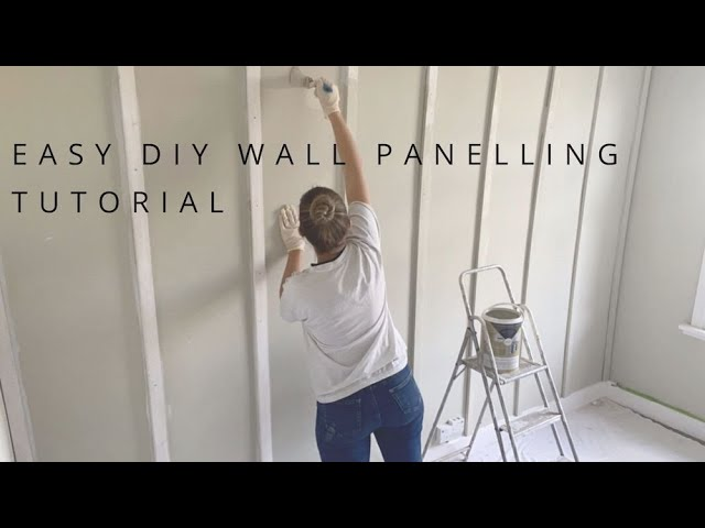 EASY AT HOME DIY WALL PANELLING TUTORIAL FOR A STATEMENT WALL - YouTube