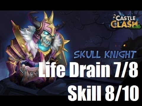 Castle Clash - Skull Knight Review From Guild Member W/ Life Drain