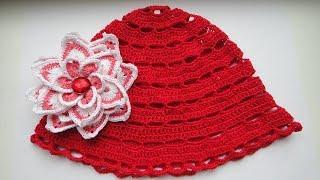Летняя панамка крючком. Summer hat crochet