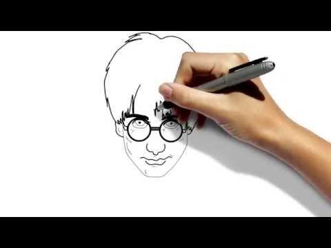 Создание рисованных видео. Creation of animated videos. Гарри Поттер. Draw Harry Potter.