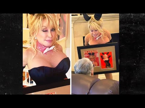 Dolly Parton recreates Playboy photo shoot for husband's birthday ...