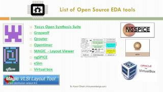 Vsd A Complete Guide To Install Open Source Eda Tools Youtube