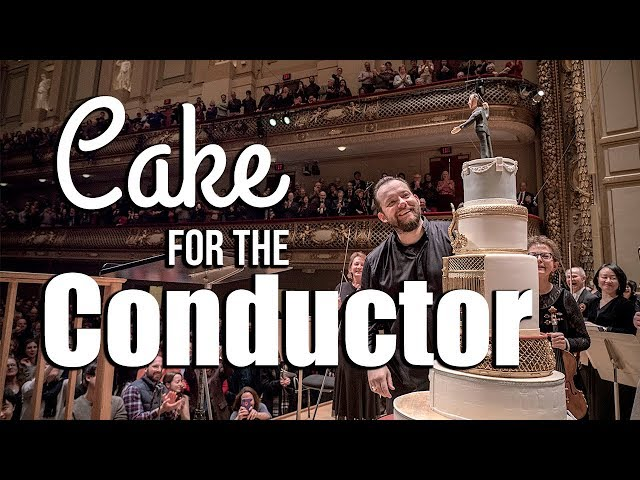 Decorating a Cake for Boston Symphony Orchestra's conductor Andris Nelson!