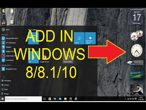 How To Install/enable Gadgets On Windows 8/8.1/10