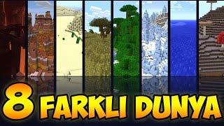 Minecraft: 8 FARKLI DÜNYAYA YOLCULUK ve 8 FARKLI PORTAL! - Zümrütleri Buluyoruz