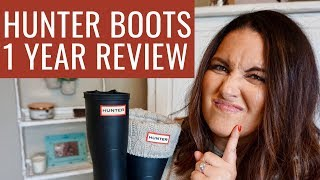 HUNTER BOOTS UPDATED REVIEW | DO HUNTER BOOTS LAST? ARE THEY GOOD FOR COLD WEATHER? | MRSPETESHOUSE