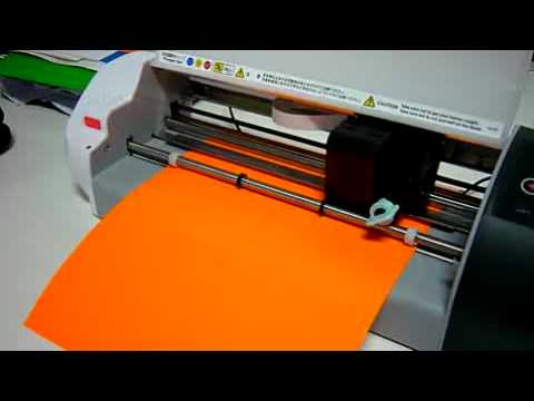 Vinyl Cutter Graphtec Craft Robo Cc330 20 Plotter Demo