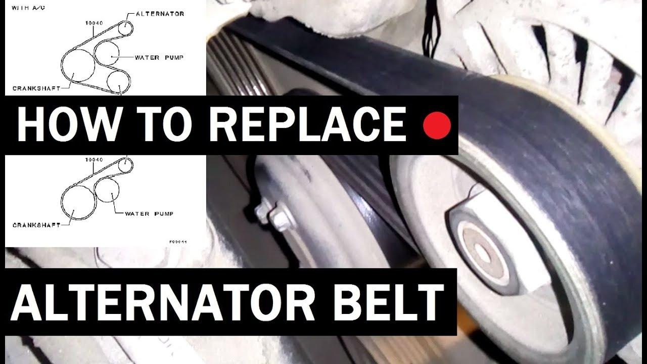 how to replace alternator belt [ 1280 x 720 Pixel ]