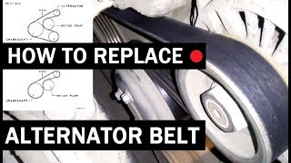 How to replace alternator belt