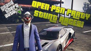 [Live] GTA Online STUNT RACE STREAM! Open PSN PARTY!