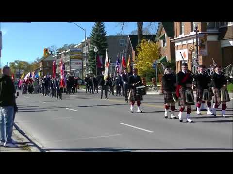 Bradford West Gwillimbury Remembrance Day Parade November 6t