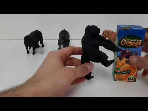 Краткий обзор детской игрушки фигурка Attivio Горилла
