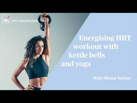 Energising HIIT workout with kettle bells and yoga | #MyFlyingStart with Shona Vertue