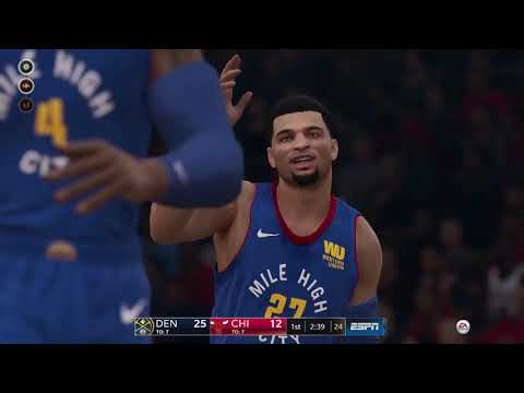 NBA Live 19 Franchise Mode pt. 7 - Denver Nuggets vs Bulls + Sliders