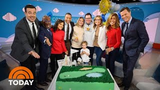 Dylan Tears Up As Family Surprises Her At On-Air Baby Shower | TODAY