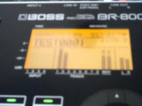 BOSS BR-800 General Recording Steps - Pt 4