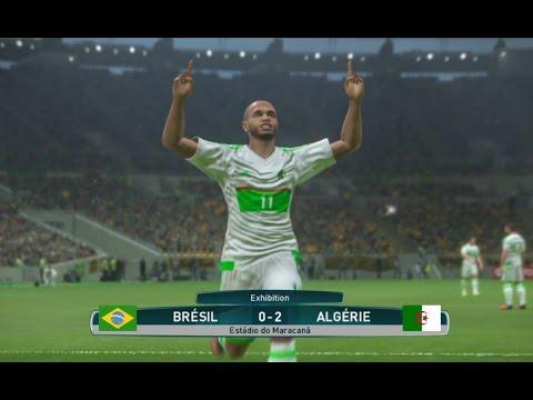 Algérie vs Brésil PES 2017 Difficulté Superstar Gameplay PS4