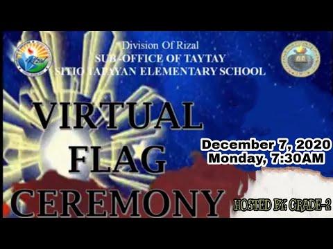 SITIO TAPAYAN ES VIRTUAL FLAG CEREMONY (MONDAY, DECEMBER 7, 2020)