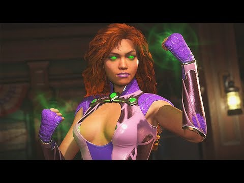 Injustice 2 - Starfire Vs All Characters | All Intro/Interaction Dialogues & Clash Quotes