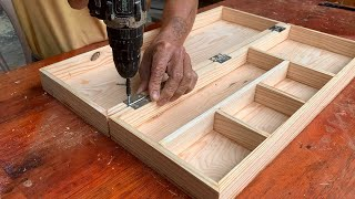 Easy woodworking // H๐w To Make A Beautiful Wooden Fishing Float Storage Box // Woody Box
