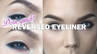 Done Quick- Reversed Eyeliner- Linda Hallberg makeup tutorials Thumbnail