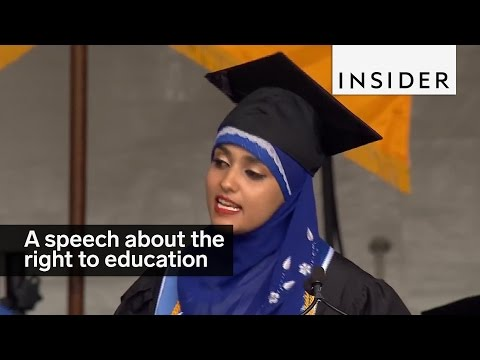This grad gave an empowering speech about women's education